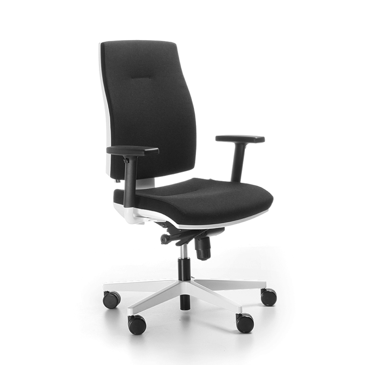 The Corr is a full-size, ergonomic swivel armchair with a characteristic backrest panel ensuring comfort, durability and its characteristic sophisticated look.