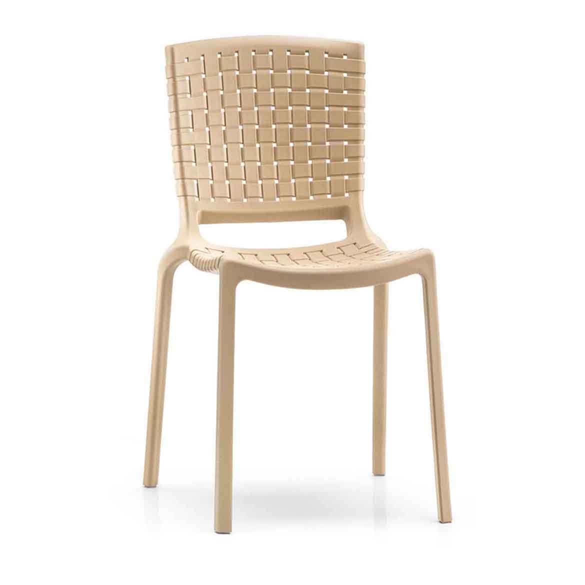 Polypropylene frame, available in 6 colours. Material of the seat is the same as structure.